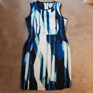 Calvin Klein patterned dress